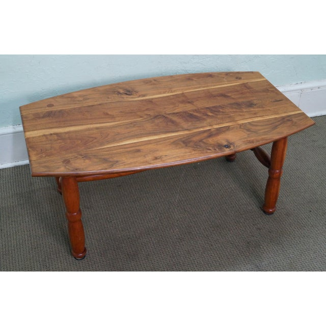 studio made solid walnut mix wood coffee table chairish With solid walnut wood coffee table