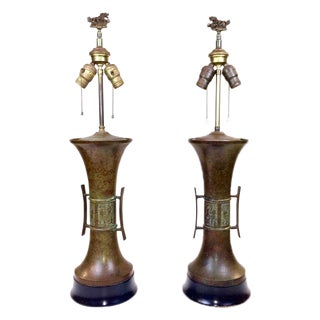 James Mont Asian Theme Lamps - A Pair