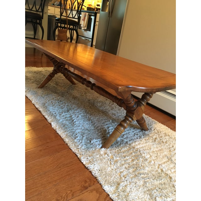 Vintage Maple Coffee Table: Cushman Colonial Maple Coffee Table