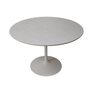 Mid-Century Round Tulip Base Saarinen Style Dining Table by Burke