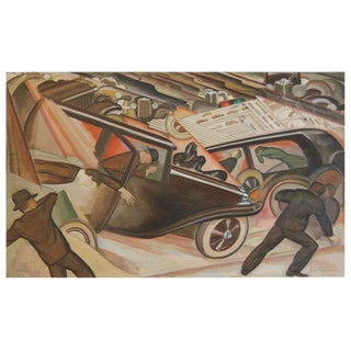 Ross Dickinson TRAFFIC oil on canvas Painting