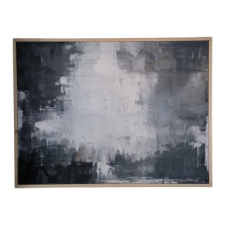 """Crater"" Framed Abstract Art by Kris Gould"
