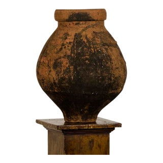 A beautiful terra cotta urn with a bulb shape from Italy c.1885