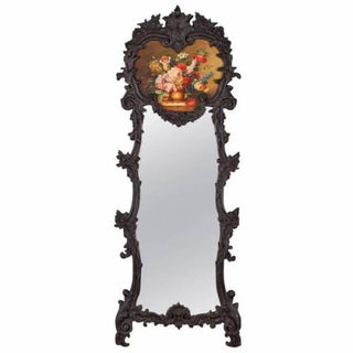 French Rococo Style Trumeau Mirror Circa 1920's