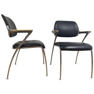 Thonet Chrome and Aluminum Chairs - A Pair