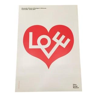 Modern Alexander Girard Love Print