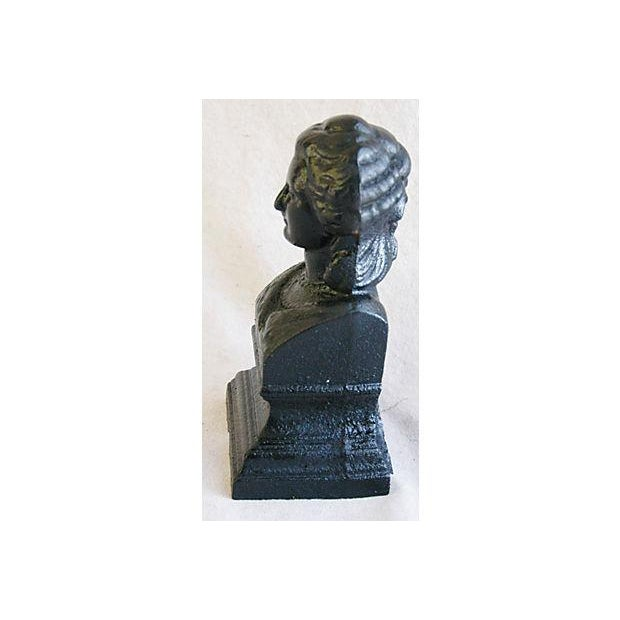 Image of Antique 19th C. French Iron Female Bust Fragment