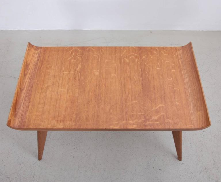 Spanish Modernist Pagoda Coffee Or Side Table In Oak By Manuel Barbero 1953    Image 4