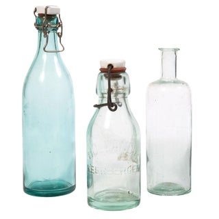 Vintage Decorative Bottles - Set of 3