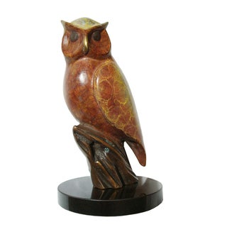 Bronze Owl Sculpture
