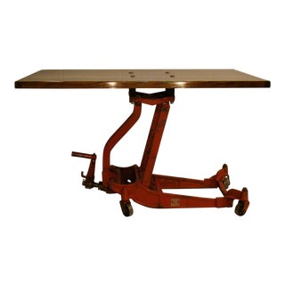Articulating Butcherblock Coffee Table/Dining Table