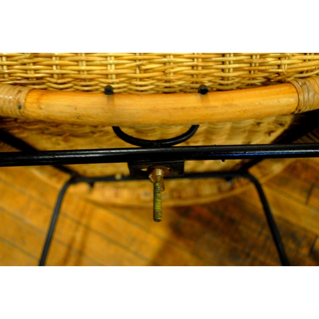Midcentury Rattan and Wicker Rockers- A Pair - Image 8 of 11