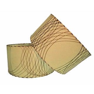 Mid-Century Fiberglass Drum Lamp Shades - A Pair