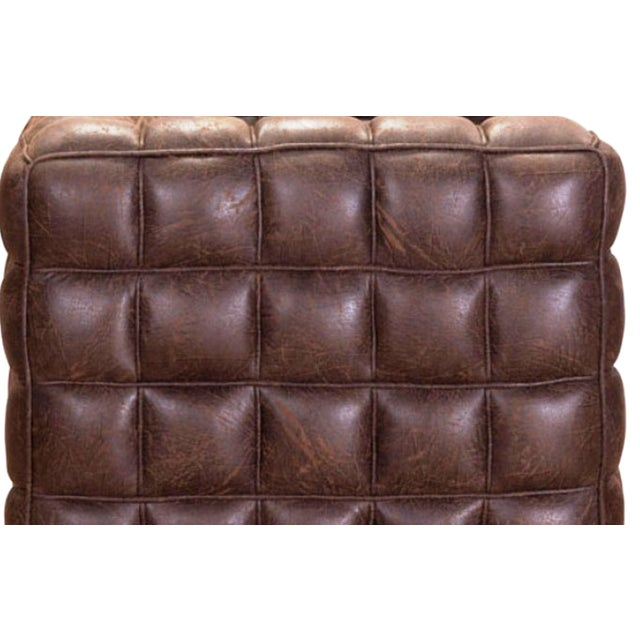 chesterfield style tufted sofa chairish. Black Bedroom Furniture Sets. Home Design Ideas