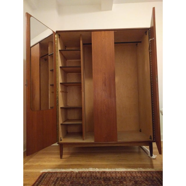 mid century finnish dressing armoire chairish. Black Bedroom Furniture Sets. Home Design Ideas