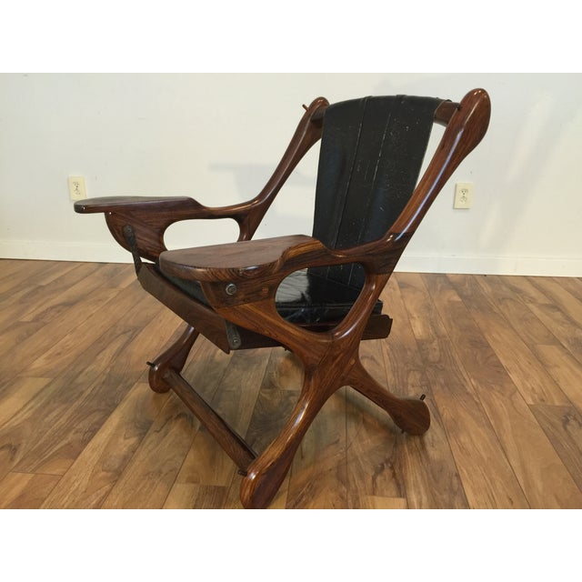 Don Shoemaker Studio Rosewood Swing Chair - Image 6 of 11