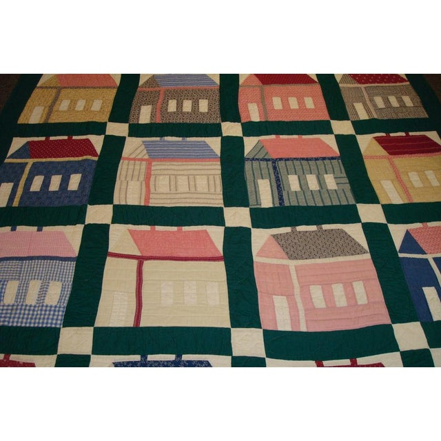 Early 20thC. Folky School House Quilt - Image 3 of 9