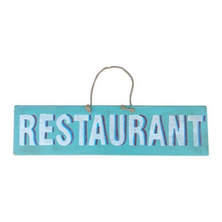 Vintage Wood Restaurant Sign