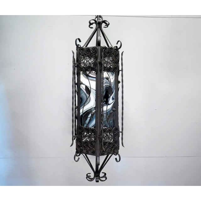 Black & White Iron Pendant Chandelier - Image 7 of 7