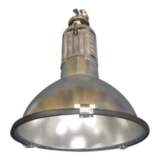 Five Large French Mid-Century Industrial Lights