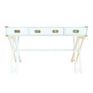 Bombay Company White Faux Bamboo Campaign Style Desk