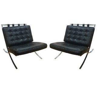 C. 1960 Screw Frame Barcelona Chairs - a Pair