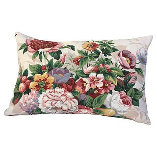 Summer Floral Bouquet Pillow