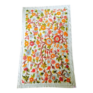 Vintage Mid-Century Floral Tapestry