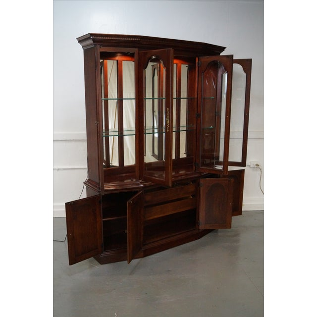 Pennsylvania House Solid Cherry China Cabinet - Image 5 of 10