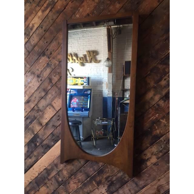 Mid Century Broyhill Brasilia Walnut Mirror - Image 3 of 3