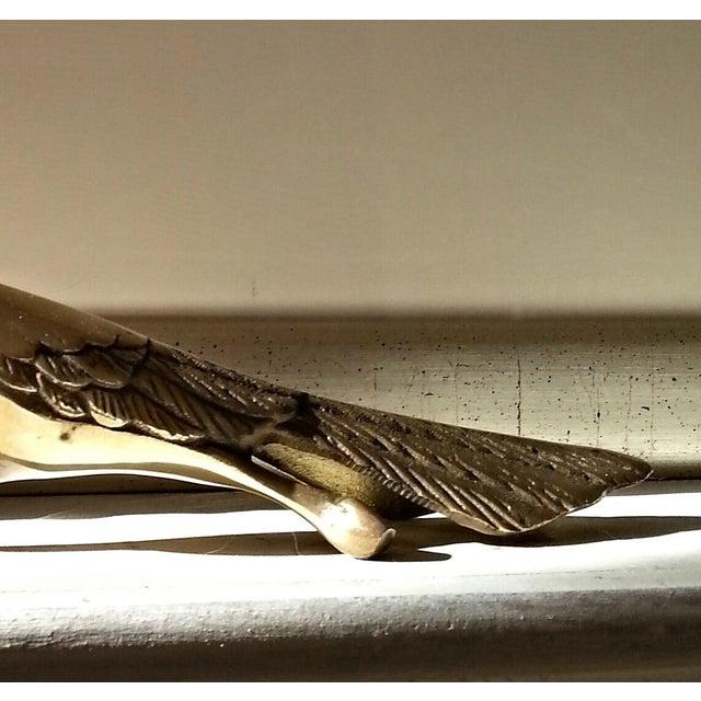 Mid-Century Brass Peacocks - A Pair - Image 6 of 8