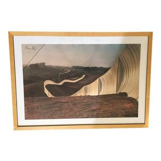Christo Running Fence Framed Print