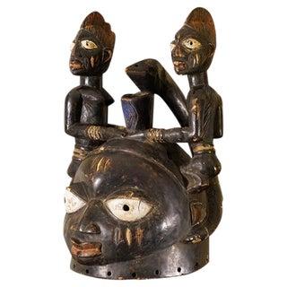 Yoruba African Tribal Helmet Mask
