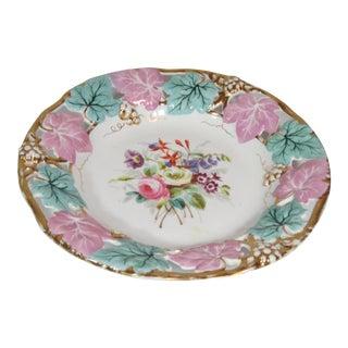 German Mauve & Turquoise Decorative Bowl
