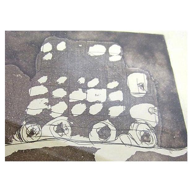 Framed Circular Abstract Print - Image 5 of 6