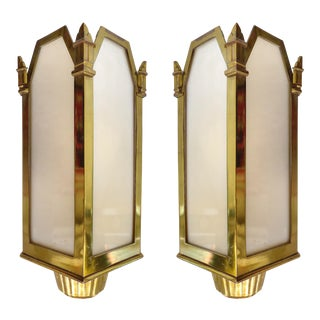 American Art Deco Theater Sconces- A Pair