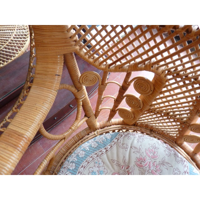 Curly Wicker Throne Chair - Image 9 of 9