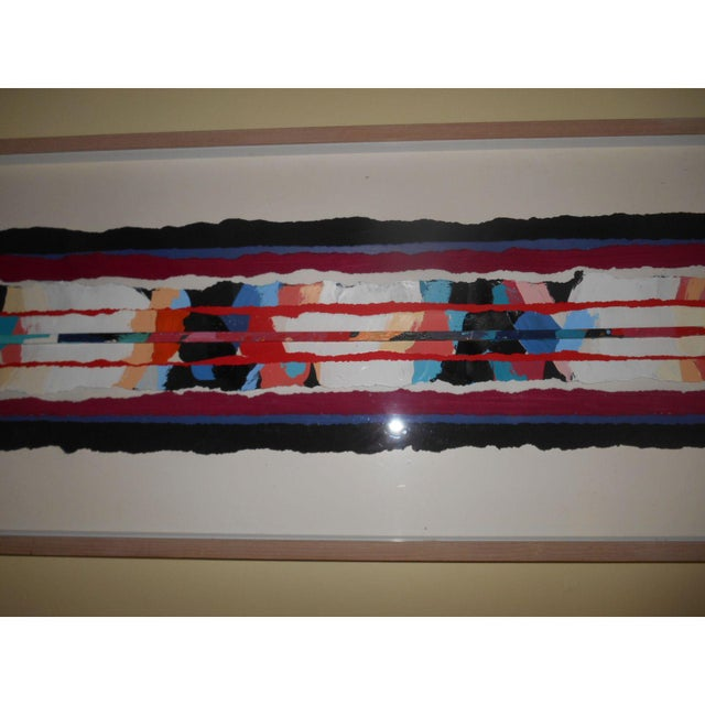 Abstract Mixed Media Textile Artwork - Image 6 of 6