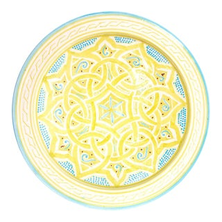 Yellow Moroccan Atlas Plate