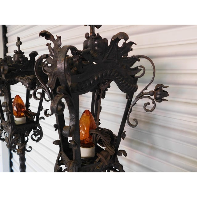 Converted Street Post Lamps - A Pair - Image 11 of 11