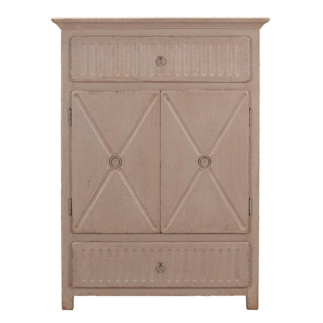 Sarreid LTD Matte Gray Badia Cupboard - Image 1 of 6