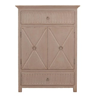 Sarreid LTD Matte Gray Badia Cupboard