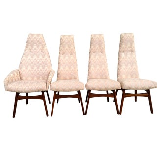 Adrian Pearsall High Back Dining Chairs - Set of 4