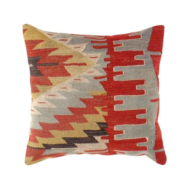 Vintage Red Kilim Pillow - Image 1 of 3