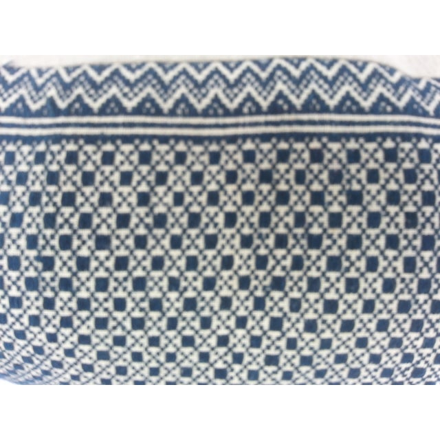 Image of Tibal Indigo Embroidered Lumbar Pillow