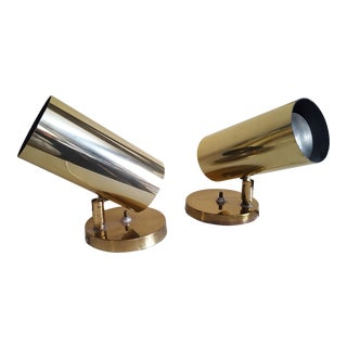 Modern Vintage Brass Spot Lights - A Pair