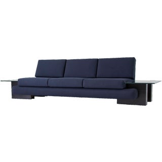 Kroehler Sofa with Glass End Tables