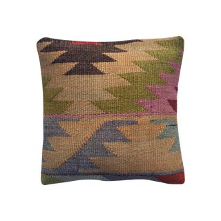 Vintage Multicolor Kilim Pillow Cover