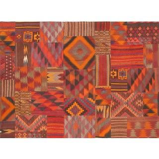 Vintage Patchwork Lamb's Wool Rug- 5′9″ × 8′1