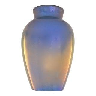 1920s Aqua Delft Lusterware Vase